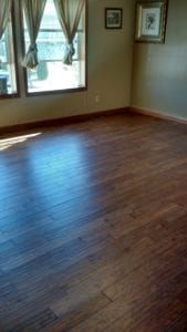 Hawthorne Construction & Painting installed and finished these hickory floors.